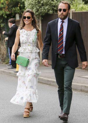 Pippa Middleton at Wimbledon Championships in London