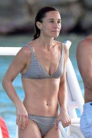 Pippa Middleton in Bikini on a boat ride in St. Barths