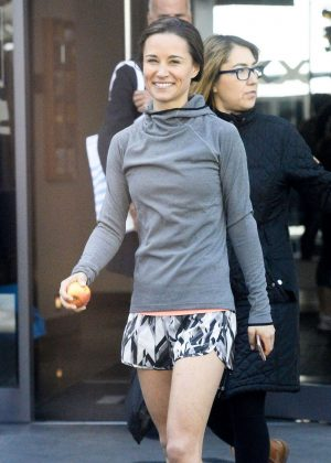 Pippa Middleton in Shorts at a Gym in South Kensington