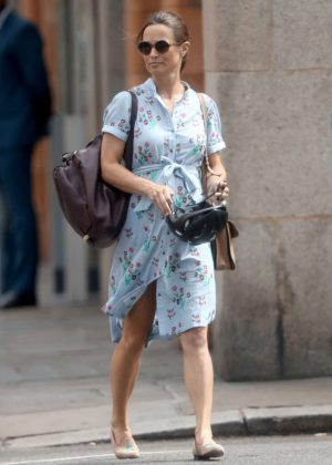 Pippa Middleton in Summer Dress - Out in London