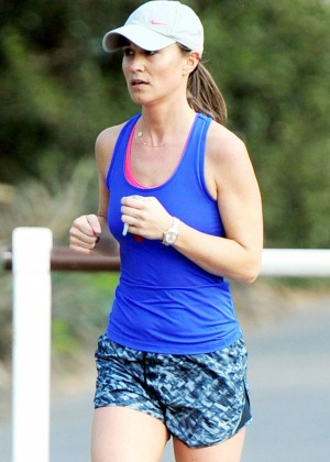 Pippa Middleton - Jogging in London