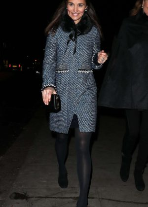 Pippa Middleton - Leaving The Henry van Straubenzee Carol Concert in London