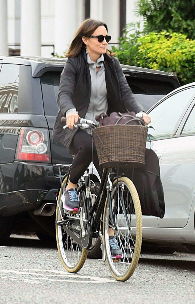 Pippa Middleton on a bike ride in London
