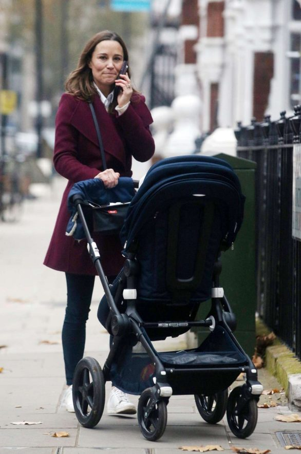 Pippa Middleton - Out with baby son Arthur in Chelsea