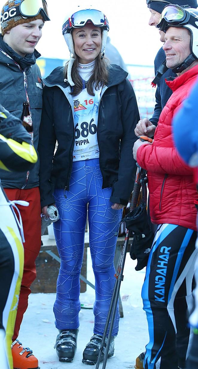 Pippa Middleton Skiing in Switzerland -16