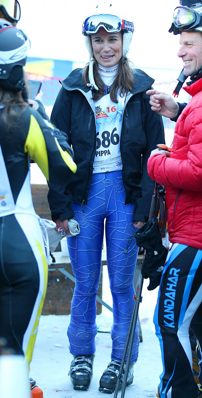 Pippa Middleton Skiing in Switzerland -17