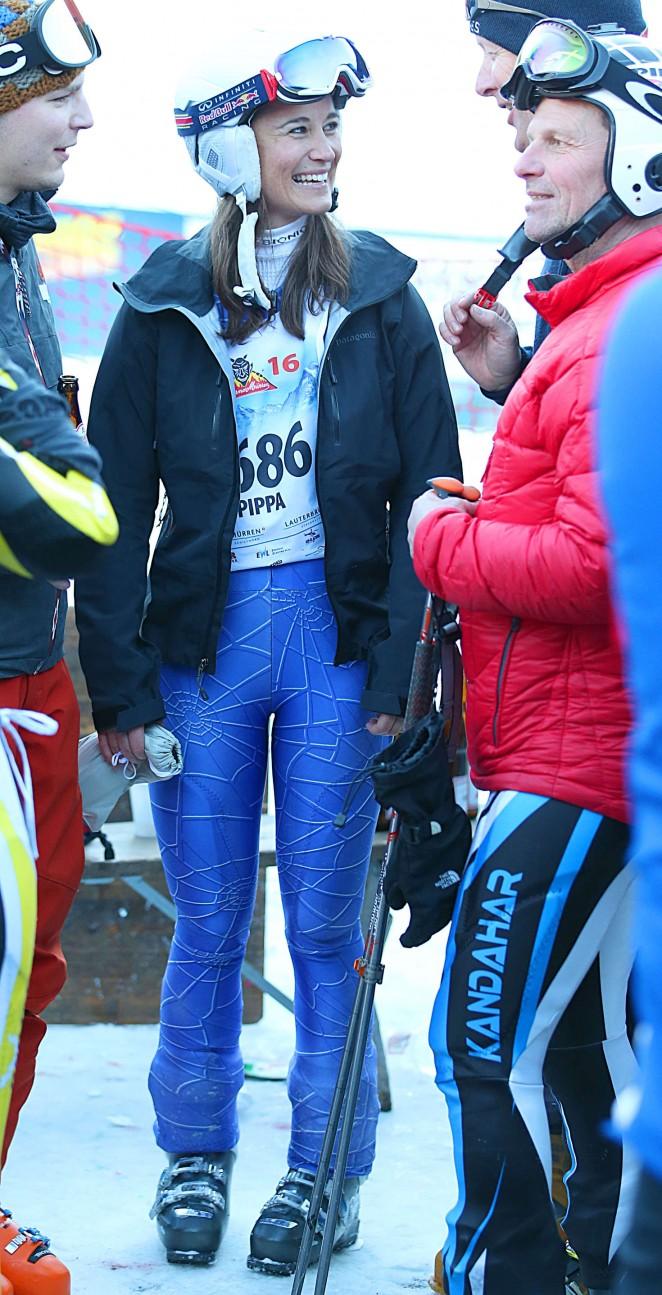 Pippa Middleton Skiing in Switzerland -21