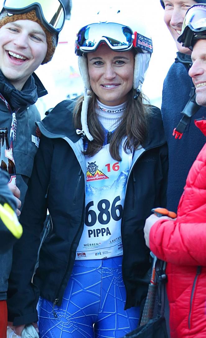 Pippa Middleton Skiing in Switzerland -26