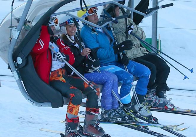 Pippa Middleton Skiing in Switzerland -30