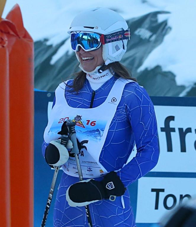 Pippa Middleton Skiing in Switzerland -35