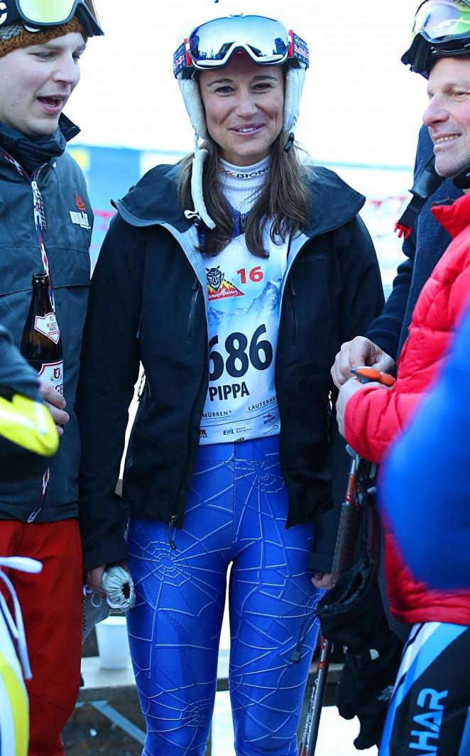 Pippa Middleton Skiing in Switzerland -39