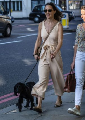 Pippa Middleton - Walking her dog in London