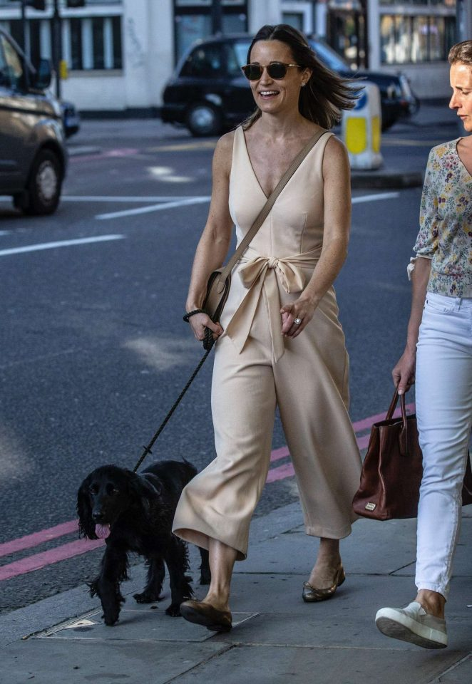 Pippa Middleton - Walking her dog in London