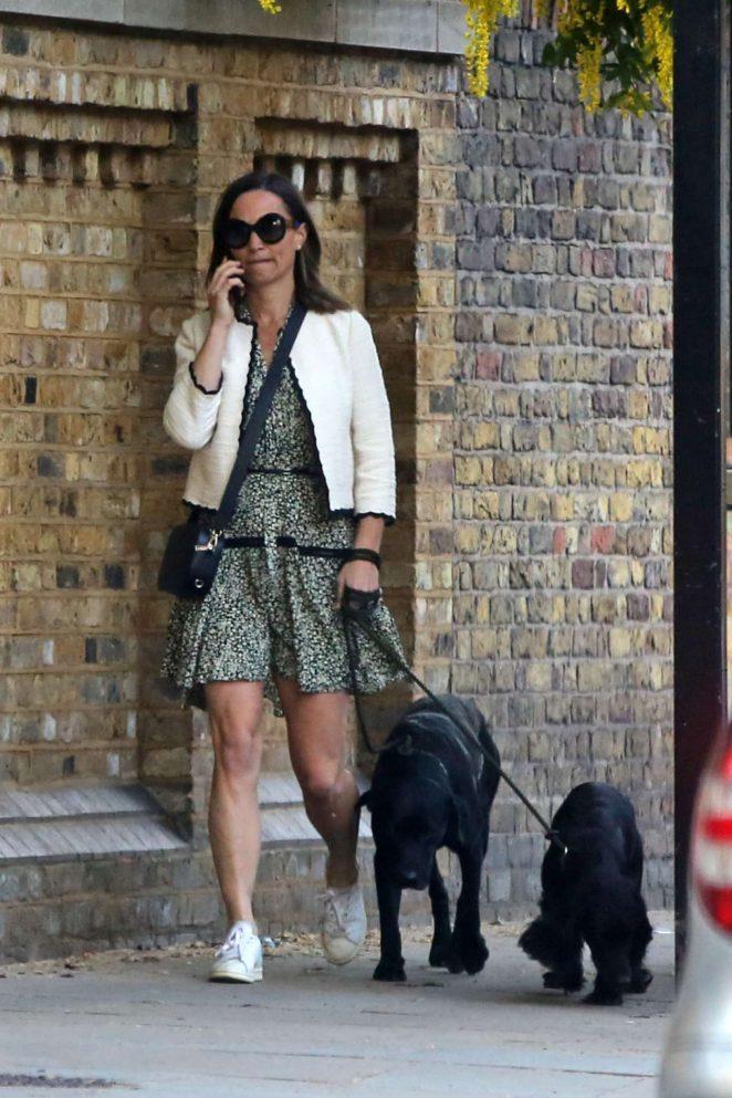 Pippa Middleton - Walking her dogs in London