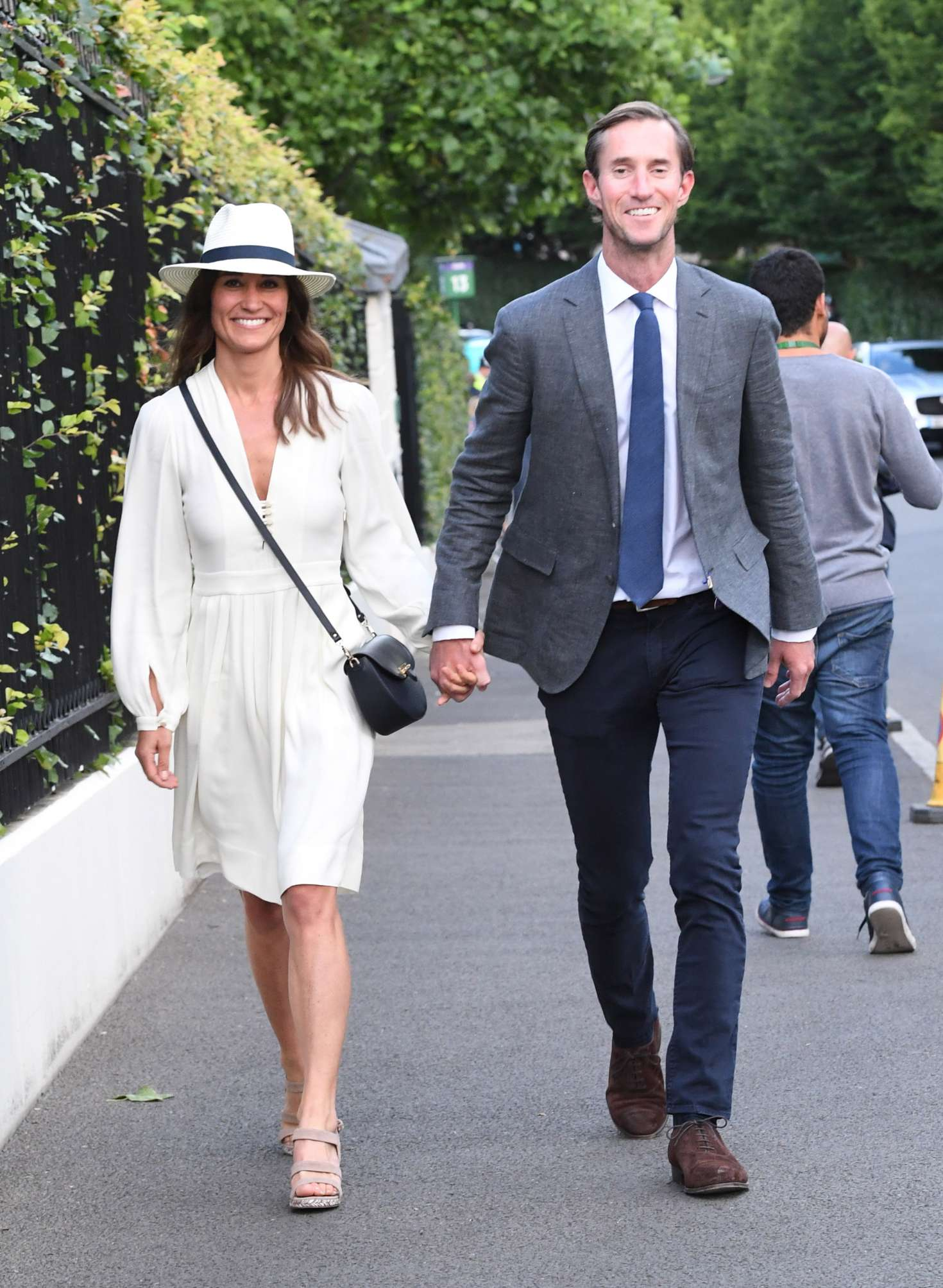 Pippa Middleton with her husband at Wimbledon in London