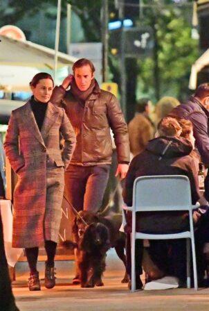 Pippa Middleton - With husband James Matthews dinner date night in London