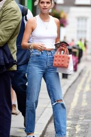 Pixie Geldof is spotted donning a casual look out in Soho