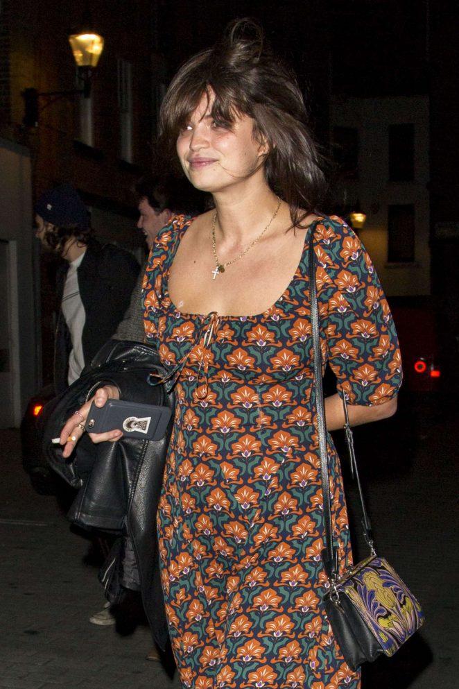 Pixie Geldof Leaving The Scotch night club in London