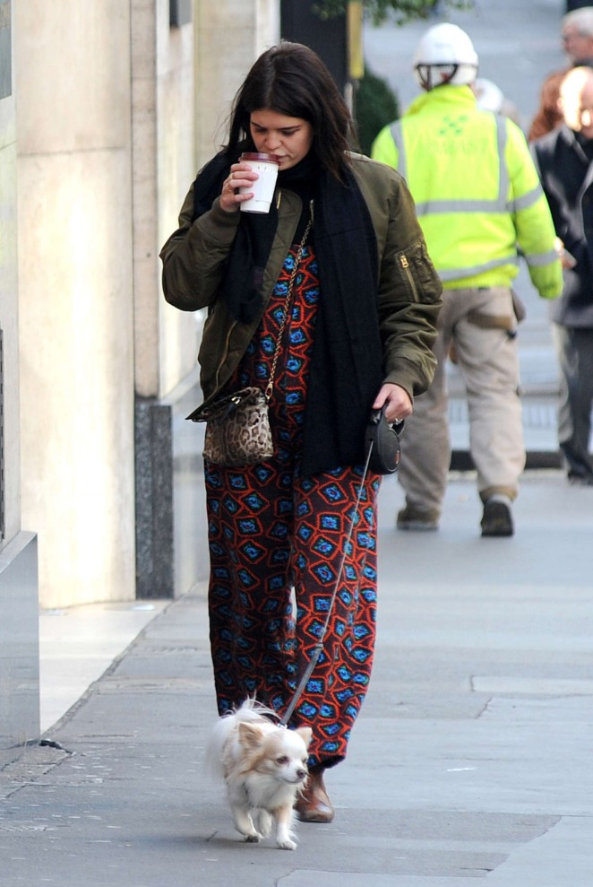 Pixie Geldof - Walking her Dog in London