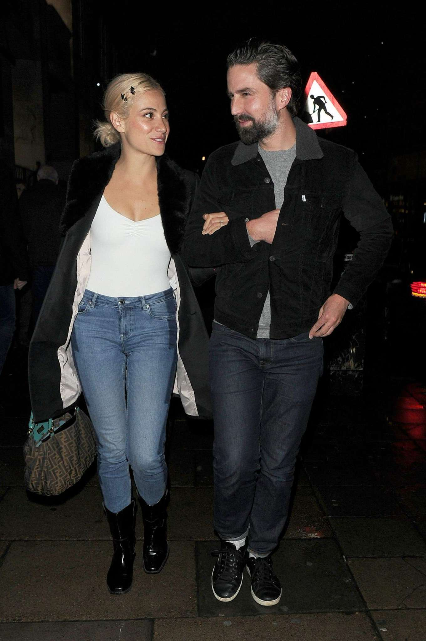Pixie Lott and Jack Guinness - Leaving 'Chicago' The Musical in London