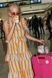 Pixie Lott - Arrives at Nice Airport in France