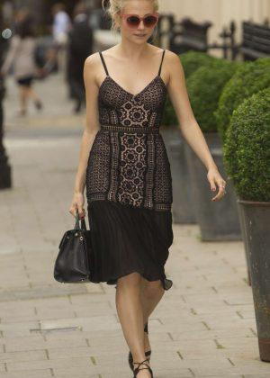 Pixie Lott Arriving at Haymarket theatre in London
