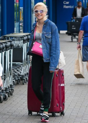Pixie Lott Arriving at London City Airport