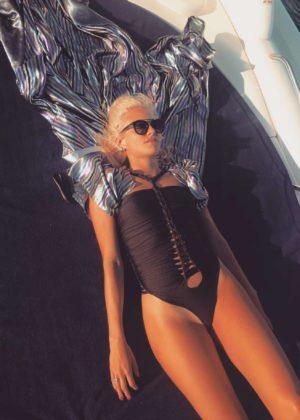 Pixie Lott - Bikini on holiday in Ibiza