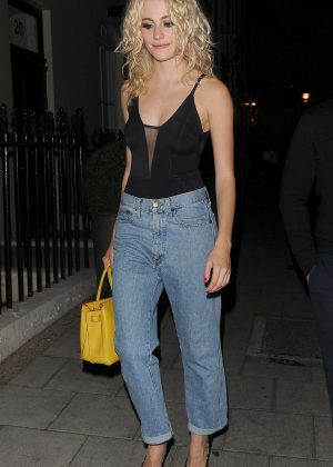 Pixie Lott in Jeans Leaving the Haymarket Hotel in London