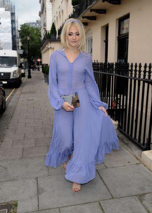 Pixie Lott in Long Dress out in London