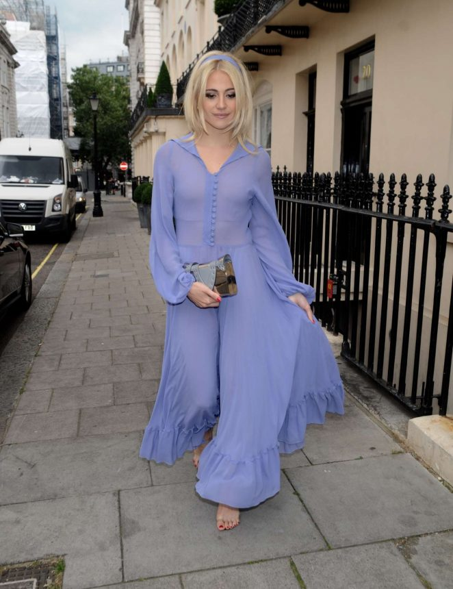 Pixie Lott in Long Dress out in London