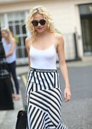 Pixie Lott in Long Skirt out in London