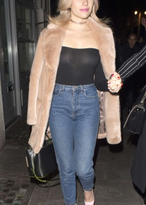 Pixie Lott - Leaving Toy Room Nightclub in Mayfair