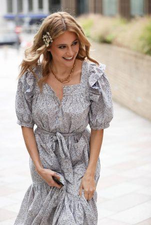 Pixie Lott looks sensational as she leaves the Sunday Brunch TV show in London