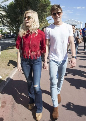 Pixie Lott and Oliver Cheshire Out in Cannes