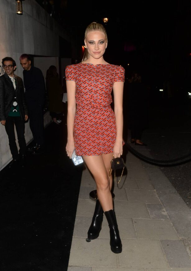Pixie Lott - Seen at the Versace x Frieze event at Toklas Restaurant in London