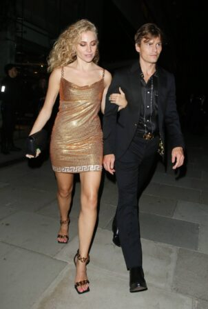Pixie Lott - Seen with her partner Oliver Cheshire after The GQ AfterParty in London