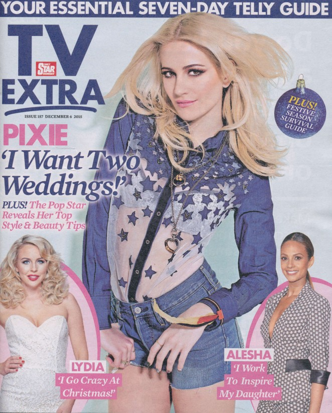 Pixie Lott - TV Extra Magazine (December 2015)