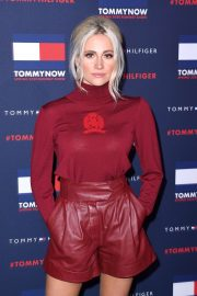 Pixie Lott - Wears Red Leather Shorts at TOMMYNOW London Spring 2020 at LFW