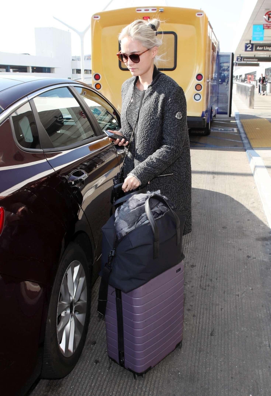 Pom Klementieff at LAX International Airport in LA