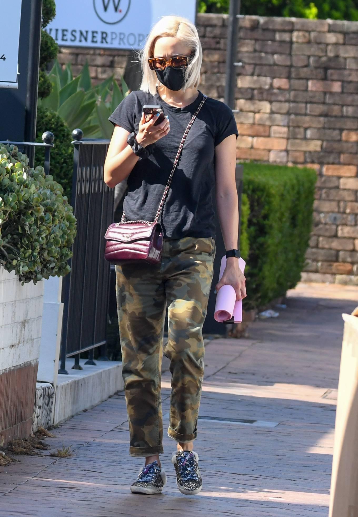Pom Klementieff - heading to Aussie celebrity facialist Melanie Grant's clinic in Sydney