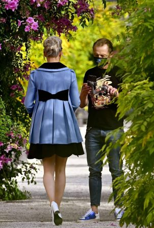 Pom Klementieff - Making videos with Simon Pegg in Venice