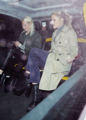 Poppy Delevingne and Laura Bailey at the Chiltern Firehouse in London