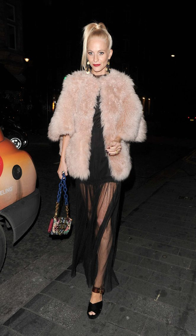 Poppy Delevingne at Love Magazine Xmas party in Mayfair