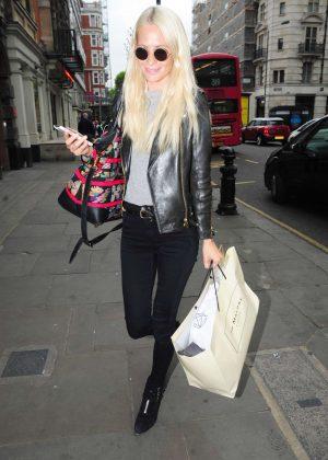 Poppy Delevingne celebrates her birtday in London