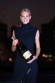 Poppy Delevingne - Hugo Boss Yacht is christened by cocktail reception on the bank of Thames in London