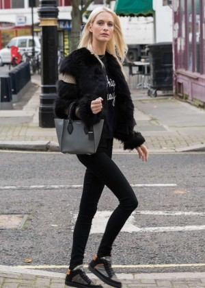 Poppy Delevingne in Tights Out in London