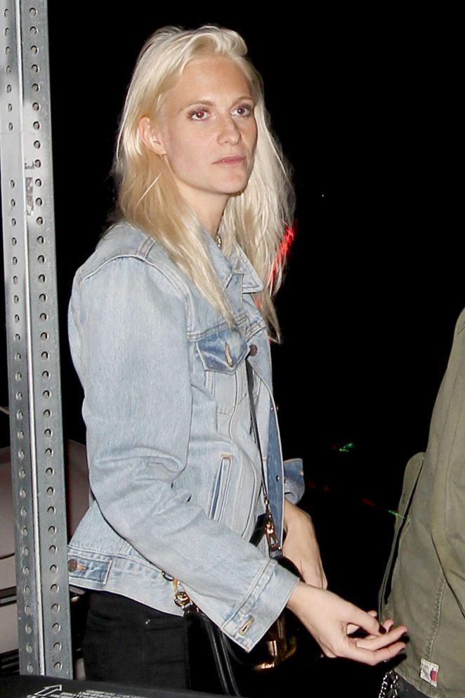 Poppy Delevingne - Leaves a bar in Los Angeles