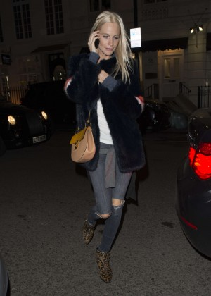 Poppy Delevingne in Ripped Jeans out in London