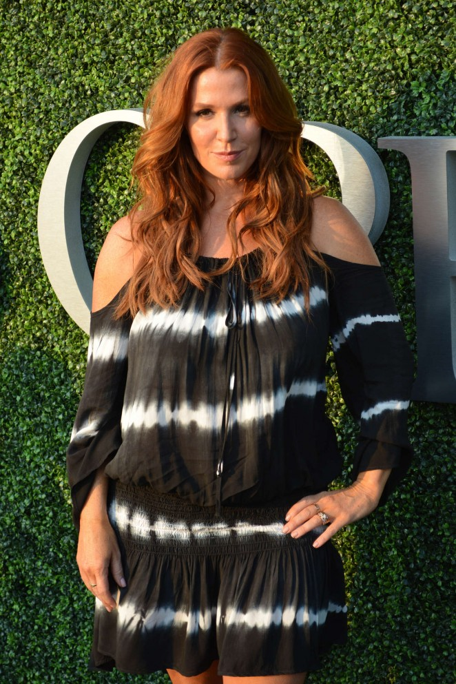 Poppy Montgomery at US Open in NYC